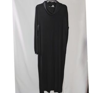 J. Jill Stretch Black Cowl Neck Maxi Dress Size L